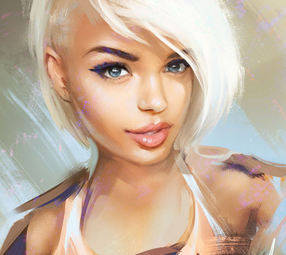 Ashley digitalart by Aleksei Vinogradov