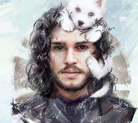 Jon Snow digitalart by Aleksei Vinogradov