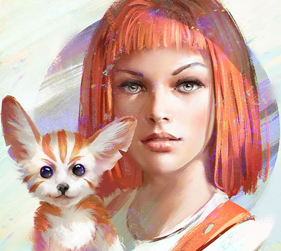 Leeloo digitalart by Aleksei Vinogradov