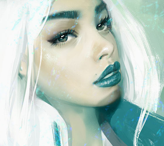 White hair digitalart by Aleksei Vinogradov