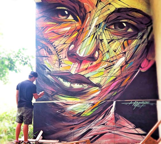 Limours streetart by Alex Hopare