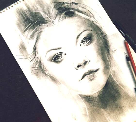 Margaery Tyrell pencil drawing by Alice X Zhang