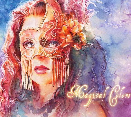 Magical colors 2013 watercolor painting by Aurora Wienhold