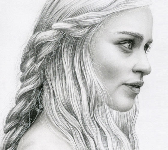 Daenerys Targaryen drawing by Bajan Art