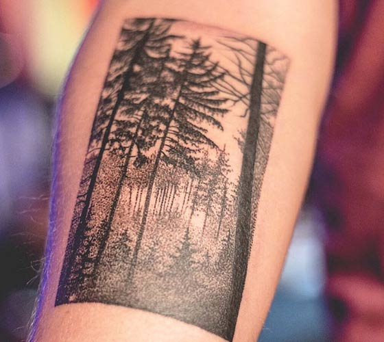 Forrest tattoo by Bambi Tattoo