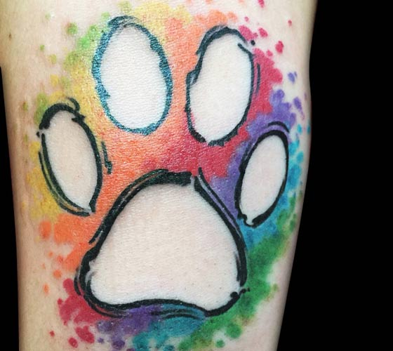 Paw tattoo by Bambi Tattoo