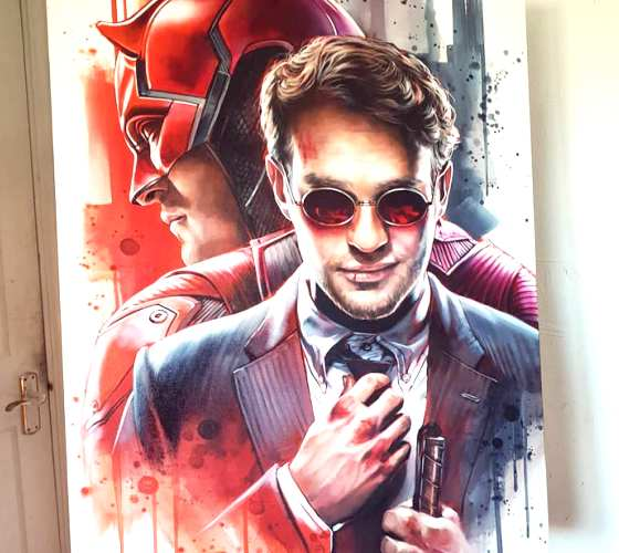 Daredevil oil painting by Ben Jeffery