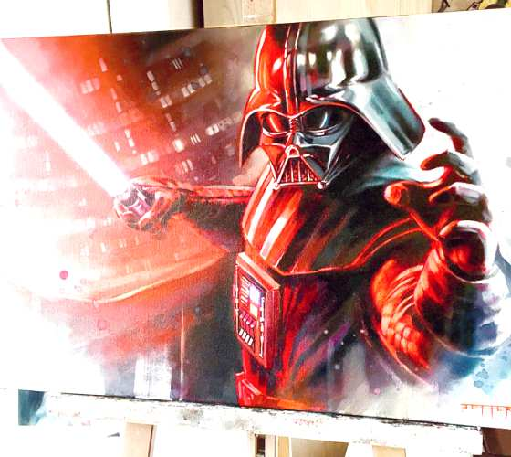 Darth Vader oil painting by Ben Jeffery