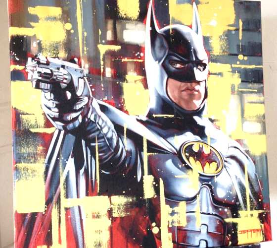 I'm Batman oil painting by Ben Jeffery