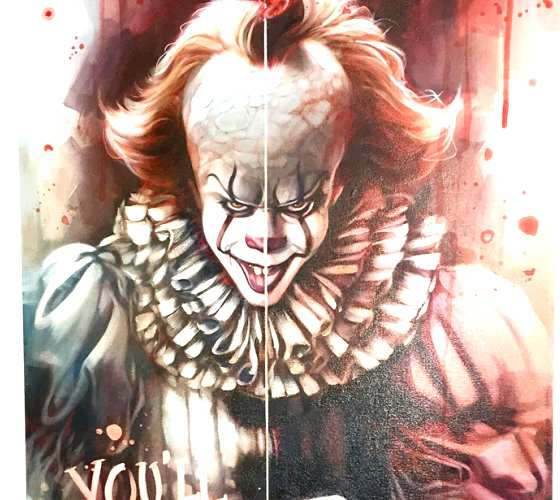 Pennywise oil painting by Ben Jeffery