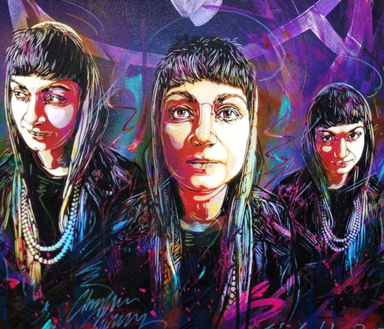 Abstract women portrait by C215