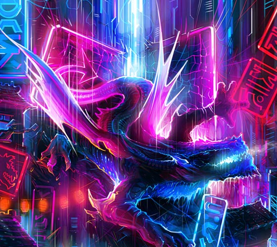 Light dragon painting by Dan DANK Kitchener