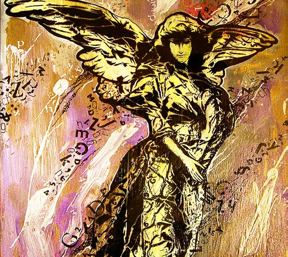 Angel mixedmedia by Frantisek Radacovsky