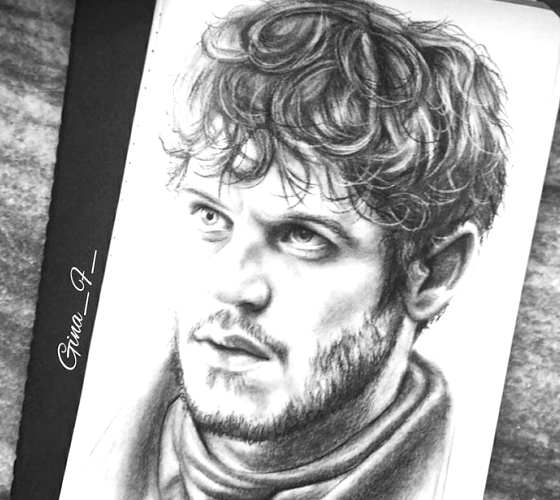 Ramsay Bolton pencil drawing by Gina Friderici