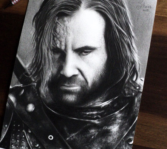 Sandor Clegane portrait drawing by Sandor Clegane