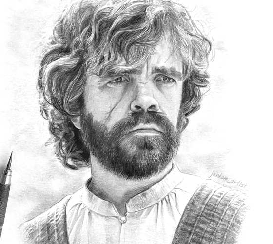 Tyrion Lannister pencil drawing by Janko Maslovaric