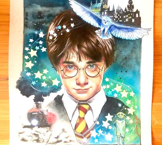Harry Potter illustration by Jonathan Knight Art