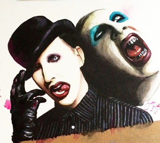 Souvent Marilyn Manson portraits painting by Jonathan Knight Art | No. 894 UR45