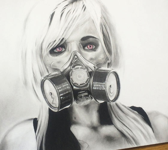 The Fallout drawing by Jonathan Knight Art