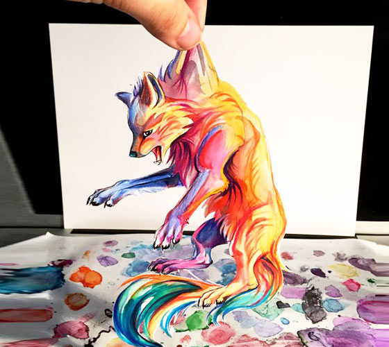 Dont drop me color drawing by Katy Lipscomb Art