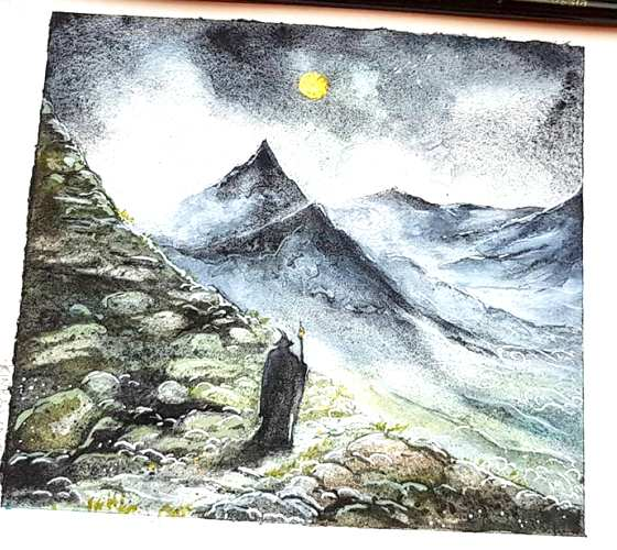 Middle Earth, painting by Kinko White