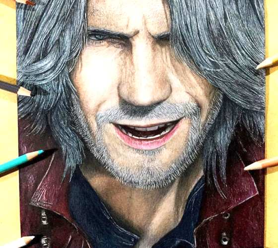 Dante pencil drawing by Kristopher Lambertin