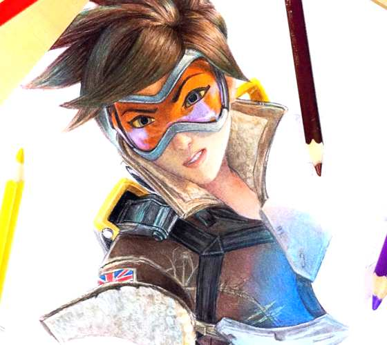 Tracer pencil drawing by Kristopher Lambertin