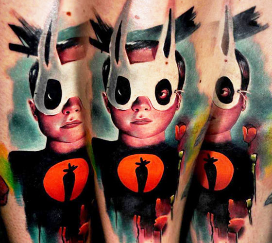 Mask Boy tattoo by Lehel Nyeste