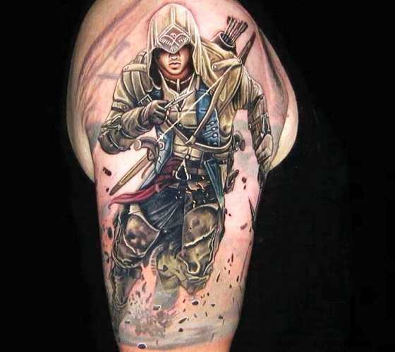 Assassins Creed tattoo by Nikko Hurtado