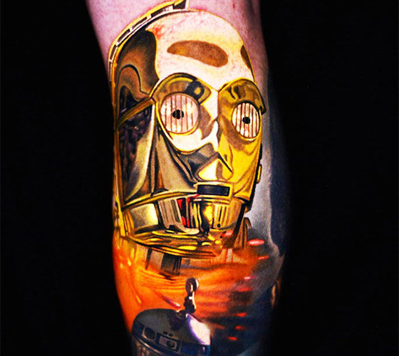 C3po tattoo by Nikko Hurtado