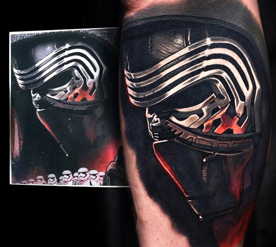 Kylo Ren metallic tattoo