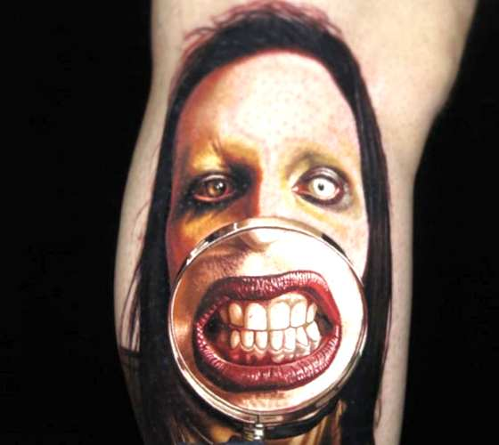Marilyn Manson tattoo by Nikko Hurtado