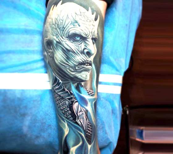 Night King tattoo by Nikko Hurtado