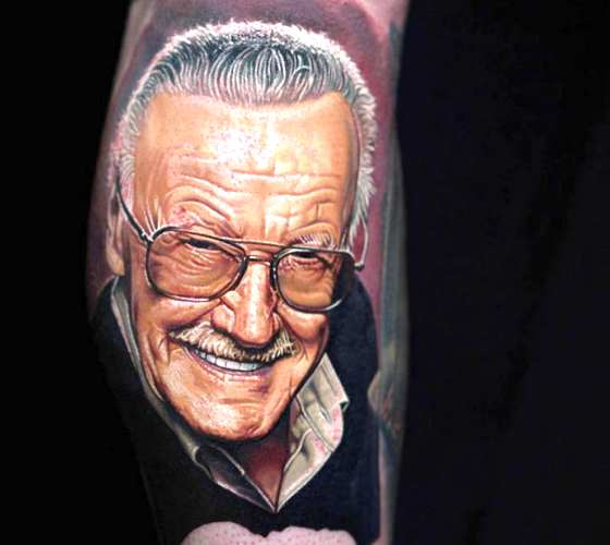 Stan Lee tattoo by Nikko Hurtado