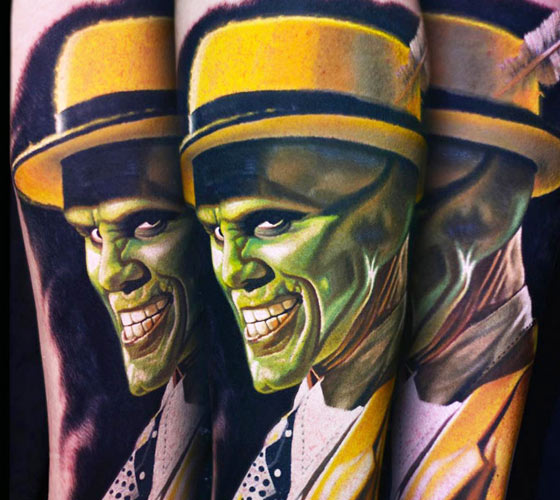 The Mask tattoo by Nikko Hurtado