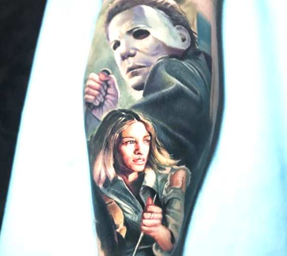 Halloween tattoo by Paul Acker
