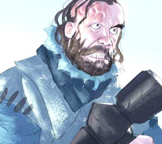 Sandor Clegane digitalart by Ramon Nunez