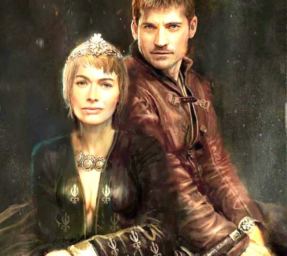 Cersei and Jamie Lannister drawing by Rudy Nurdiawan